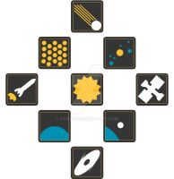 Solar System Pictographs by Cy4ntic