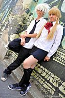 Maka and Soul Eater Evans by adaman77