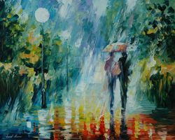 Summer rain by Leonid Afremov by Leonidafremov