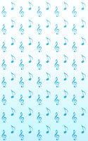 Music Notes Custom Background by RecklessKaiser