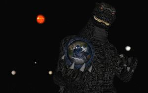 Godzilla, savior and protector of our earth by Spino2006