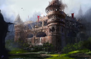 Castle Damage by asong0116