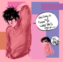 Quick sketch: ed doesn't like pink by Donlvir