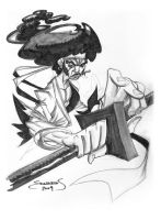 Afro Samurai Comission by basicnoir