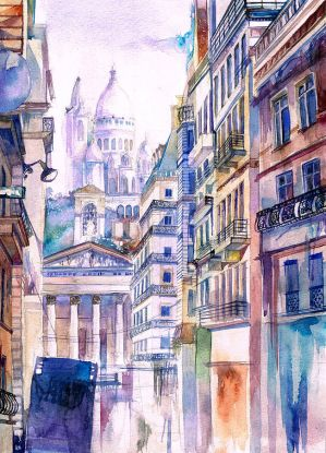 The way to La Basilique du Sacre Coeur by Andette
