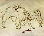 Whippets and a Wolf by silencingkill