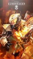 Destiny the Game - Sunbreaker Mobile BG by OverwatchGraphics