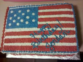 American Flag Birthday Cake by missblissbakery