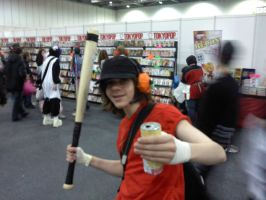 TF2 scout cosplayer 2 by myistic