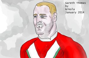 Gareth Thomas by nikolabjovanovic