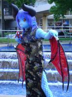 Miharu Nakashima as Astaroth at Otakon 2008 by FleaTheMagician