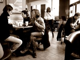 At Starbucks by plumcake-mery