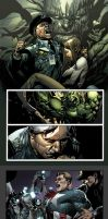 Pages of Hulk 23 by Leinil Yu by MarteGracia