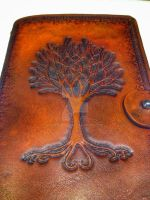 Leather Journal - Tree of Life by Airth007