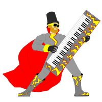 2D Typical Keyboard Player by CalamityJones