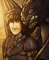Toothless and Hiccup by Dragoart