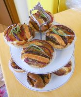 Plums and Rosemary Tartlets by Efreet-in-the-Oven
