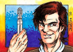 The Eleventh Doctor Sketchcard by ElfSong-Mat