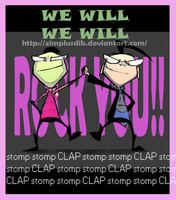 Invader Zim - We will rock you by ZimPLUSDib