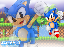 Sonic the Hedgehog WallPaper by TokeiTime