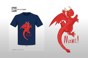 Little Red Dragon T-Shirt by whiteicepanther