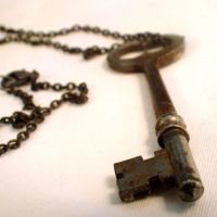 Rusty Skeleton Key Necklace by Om-Society