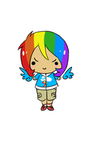 Kodomo - Rainbow Dash by 074Julie