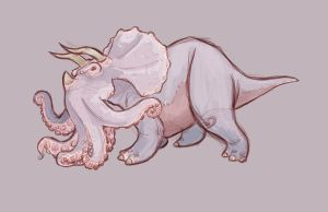 Octopus Triceratops by calebsawyer