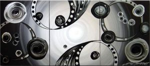 Industrial Light And Circles by ModernArtist123