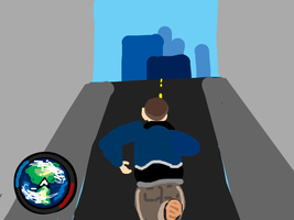 GTA4 gameplay, but the minimap has been replac by danceswithzerg