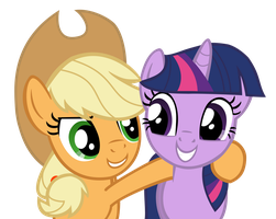 AJ and Twilight Vector by X-BlackPearl-X
