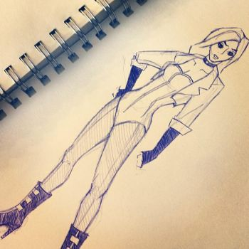 Sketch 6 (Black Canary) by OwlMask