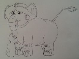 (Commission) Princess Jasmine as Elephant by CottonCatTailToony