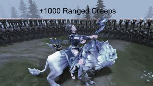 Mirana Starstorm and 1000 creeps (GIF) by m1sk4