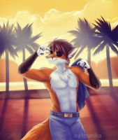 Cool Boy at the beach by Imanika