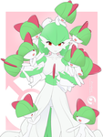 Lineart_Gardevoir x Ralts by Orcaleon