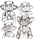 Ilham sketches by EtherealRaubtier