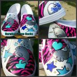 Narwhal Throw-Backs by ChumpShoes
