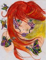 butterfly colorie by misstonio