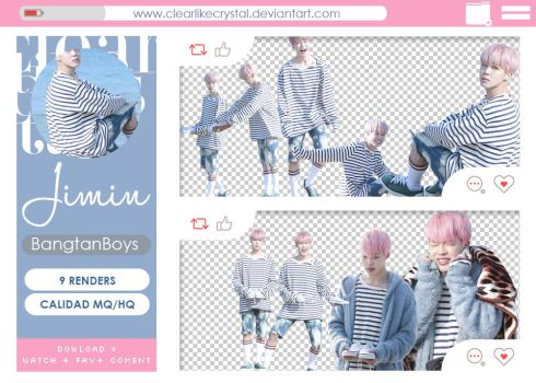 #093 | Pack PNG | Jimin | BTS by clearlikecrystal