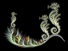 seahorses by StrainedEye