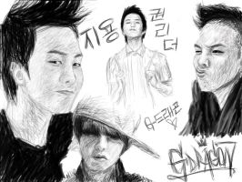 G-Dragon Tablet Practice by munyi