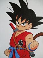 The Little Hero - Kid Goku by SakakiTheMastermind