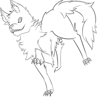 Free Dog LineArt 02 by Hackwolfin