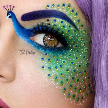 Peacock - a closer look by scarlet-moon1