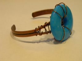 Boho Cuff Wire wrapped Bracelet by hiddenhearts3
