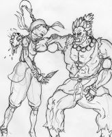 Akuma vs Ibuki by Retro-Insanity
