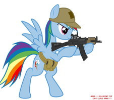Tactical school Rainbow dash by orang111