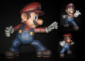 SSBB Mario Papercraft Angles by TouchFuzzyGetDizzy