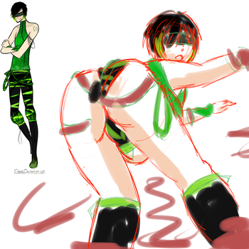 Green is not a creative colour... WIP by FallenAngel1017